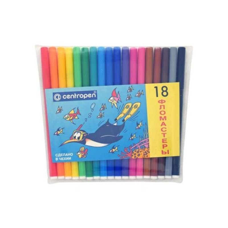 Набор фломастеров Centropen ПИНГВИНЫ 18 шт разноцветный 7790/18-86 7790/18-86 набор фломастеров centropen пингвины 30 шт разноцветный 7790 30 86 7790 30 86