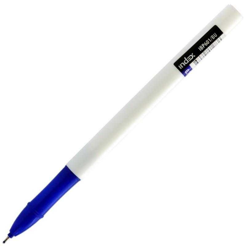 Шариковая ручка Index IBP601/BU синий 0.7 мм IBP601/BU шариковая ручка index alpha grip синий 0 7 мм ibp306 bu ibp306 bu