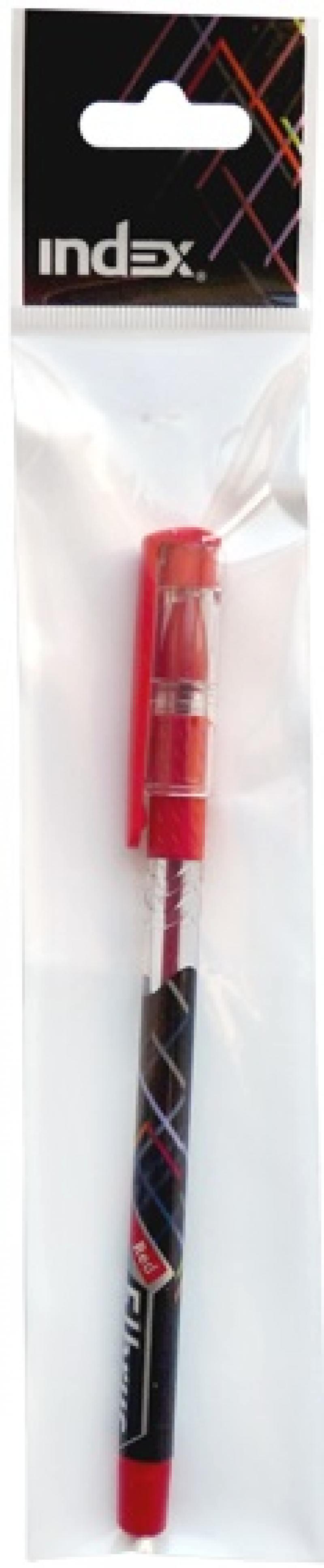 Шариковая ручка Index Elbrus красный 0.5 мм IBP317/RD IBP317/RD авточехлы autoprofi matrix формованный велюр 11 предметов чёрный красный размер м mtx 1105 bk rd m