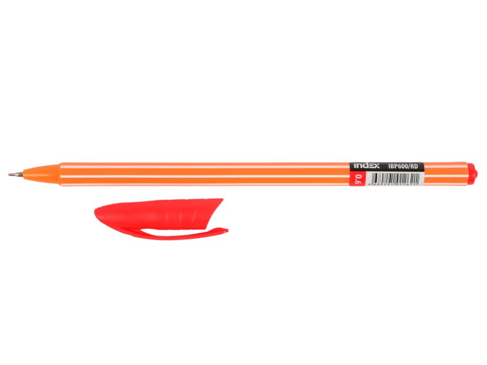 Шариковая ручка Index IBP600/RD красный 0.6 мм  IBP600/RD шариковая ручка index ibp4120 rd красный 0 5 мм