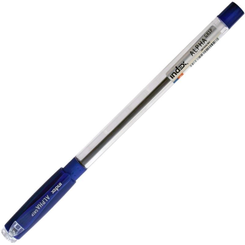 Шариковая ручка Index ALPHA GRIP синий 0.7 мм IBP306/BU IBP306/BU шариковая ручка index alpha grip синий 0 7 мм ibp306 bu ibp306 bu