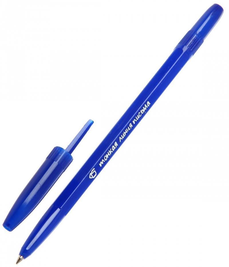Шариковая ручка СТАММ Тонкая линия письма синий 0.7 мм РК20 РК20