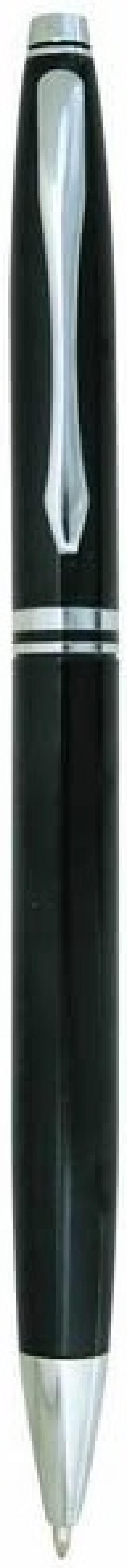 Ручка шариковая, металлическая, черный корпус, хромированные детали, поворотный механизм, 0,7 мм, си