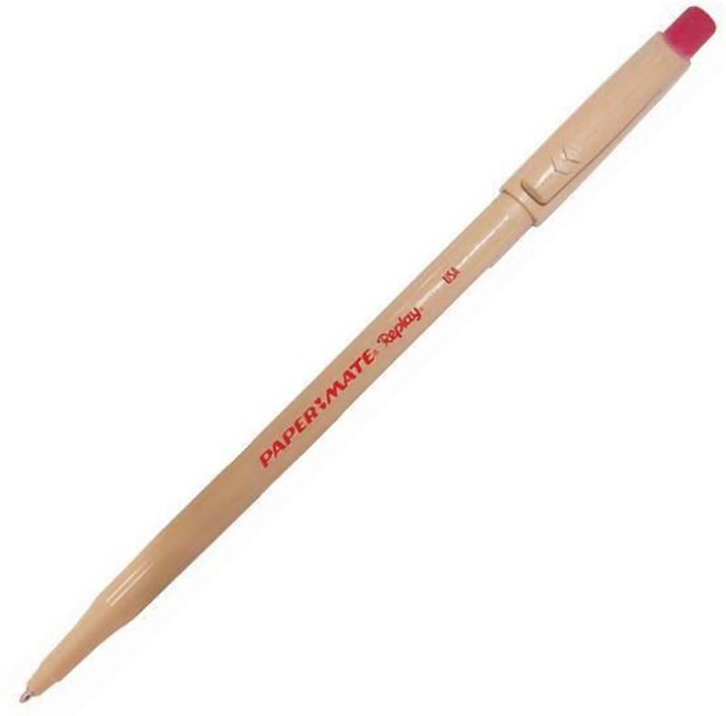 Ручка шариковая REPLAY со стираемыми чернилами, с ластиком, красная, 1,0 мм PM-S0190804 ручка шариковая со стираемыми чернилами синяя 826101
