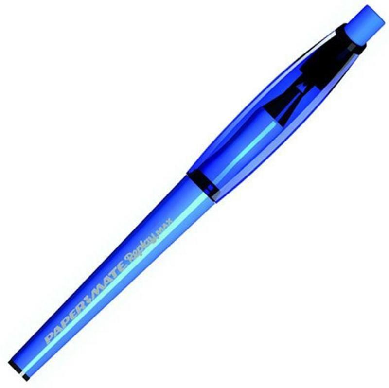 Ручка шариковая REPLAY.MAX со стираемыми чернилами,резин. упор, синяя,1,0 мм PM-S0835220