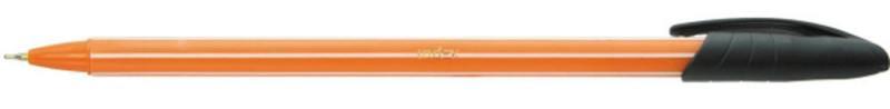 Ручка шариковая, пластиковый корпус, цветной колпачок, масляные чернила, 0,6 мм, черная ручка шариковая delta автоматическая 0 7мм масляные чернила черная