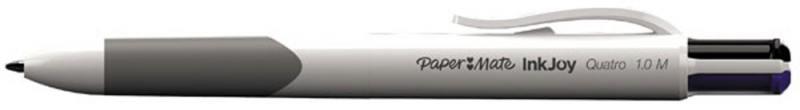 Ручка шариковая QUATRO, 4 цвета в одной ручке, карманный зажим