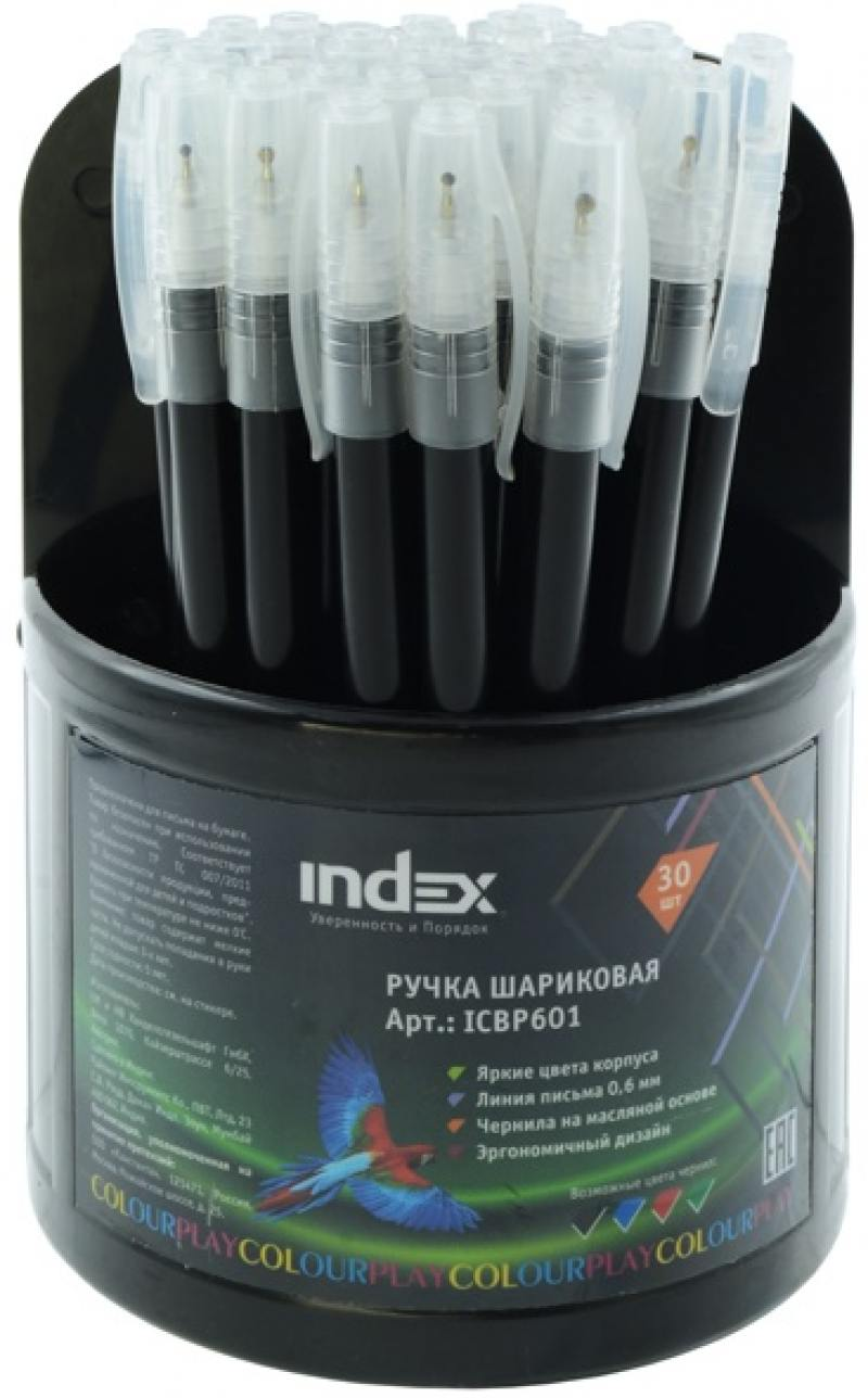 Шариковая ручка Index ColourPlay черный 0.6 мм ICBP601/BK ICBP601/BK mac eng 6 fluency bk cd x2