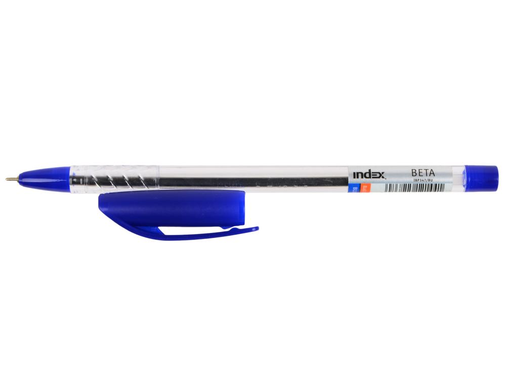 Шариковая ручка Index BETA синий 0.7 мм IBP347/BU IBP347/BU шариковая ручка index alpha grip синий 0 7 мм ibp306 bu ibp306 bu