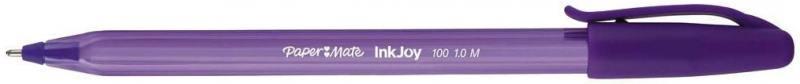 Ручка шариковая INKJOY 100, с колпачком,фиолетовая, пластик тонир., корпус в цвет чернил, 1мм PM-S09