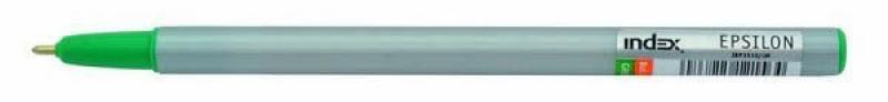 Шариковая ручка Index Epsilon зеленый 1 мм IBP3510/GN шариковая ручка index epsilon черный 1 мм ibp3510 bk