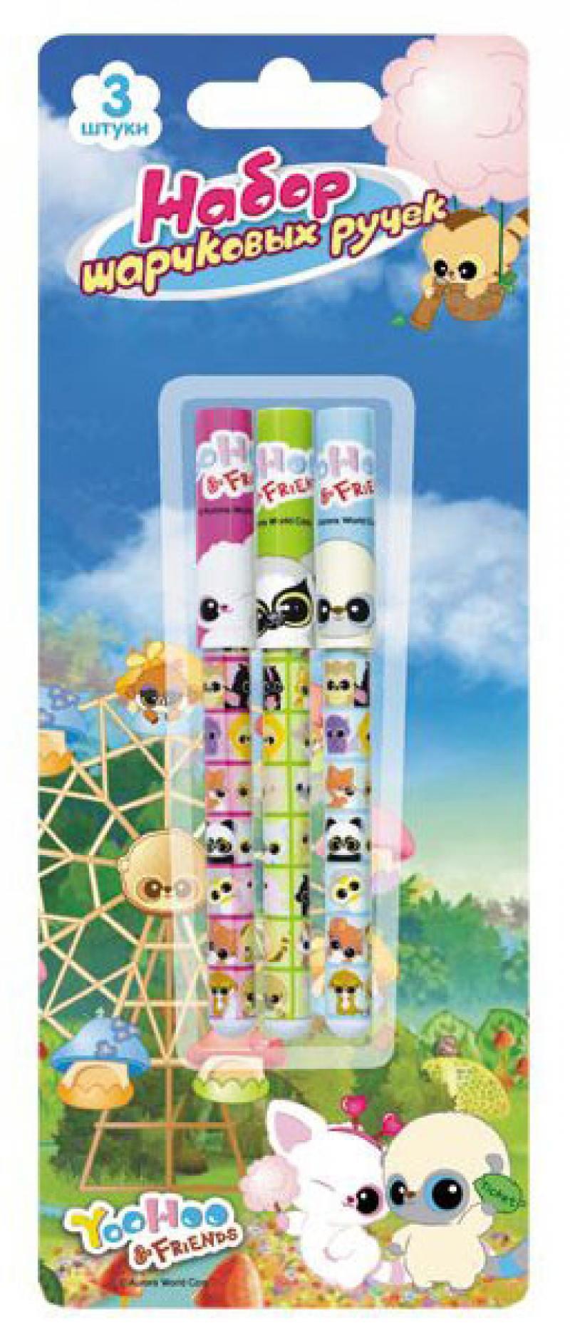 Набор шариковых ручек Action! Yoohoo 3 шт YH-ABP151/3 YH-ABP151/3 набор цветных карандашей action yoohoo 6 шт утолщенные yh acp115 06 yh acp115 06