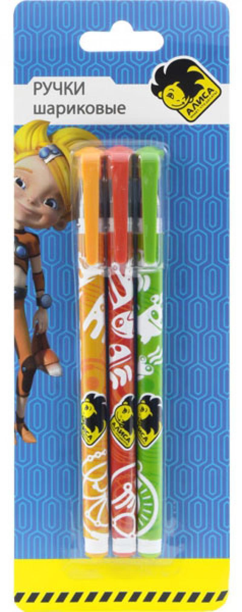 Набор шариковых ручек Action! Алиса 3 шт AZ-ABP151/3 AZ-ABP151/3 набор бальзам eos limited edition lip balm 3 pack visibly soft набор 3 шт