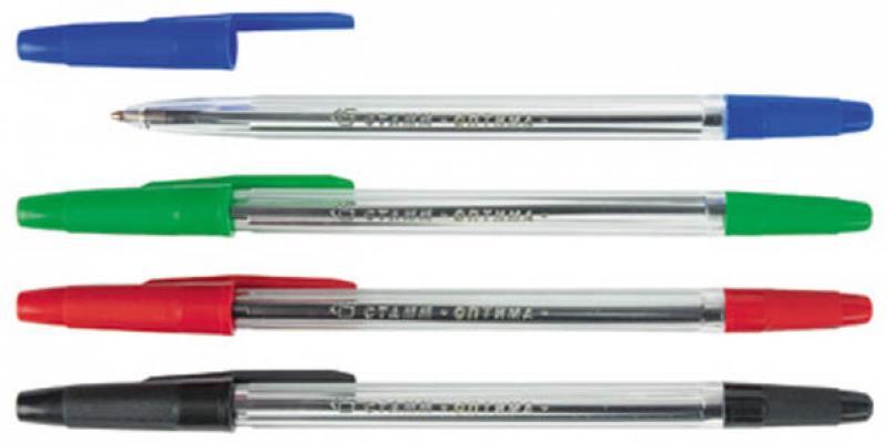 Набор шариковых ручек СТАММ РО07 4 шт разноцветный 1 мм РО07 цена