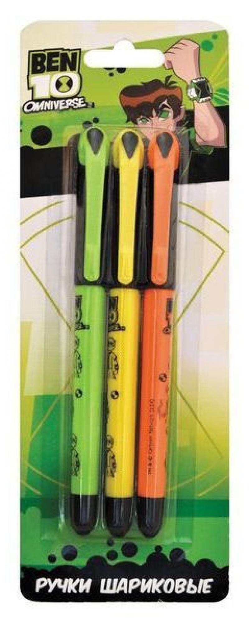 Набор шариковых ручек автоматическая Action! BEN10 3 шт синий BT-ABP152/3 BT-ABP152/3 набор шариковых ручек стамм ро06 3 шт разноцветный 1 мм ро06