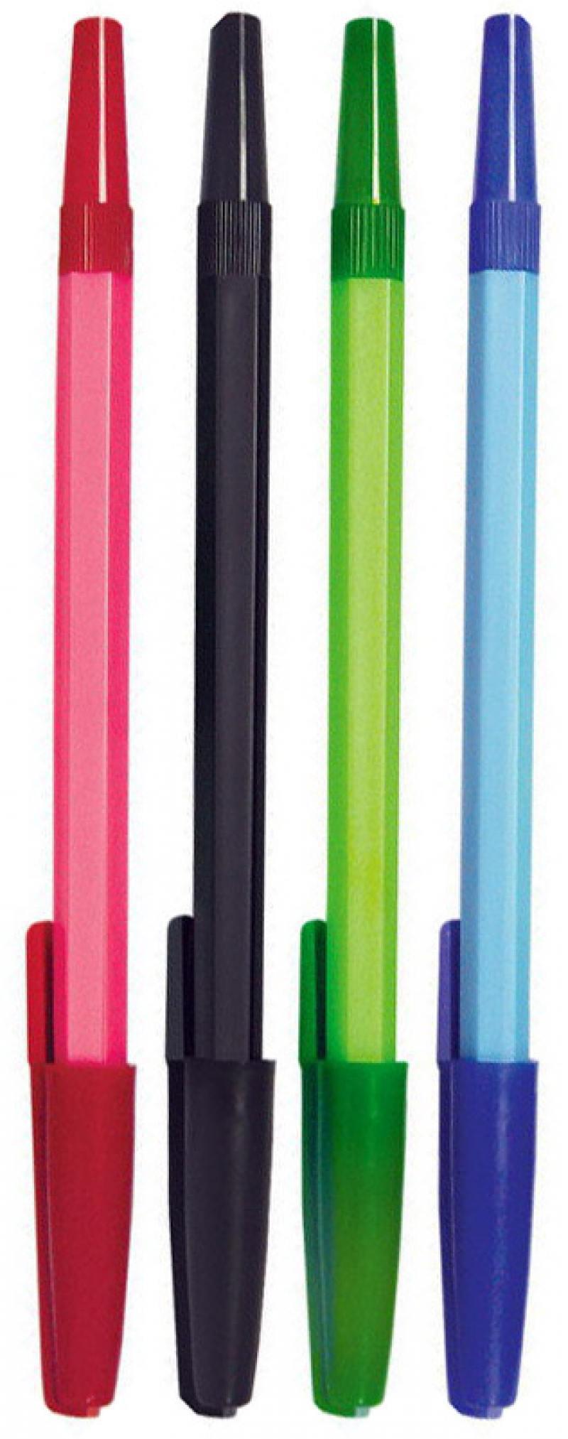 Набор шариковых ручек СТАММ РШ 049 4 шт черный синий зеленый красный 1 мм РШ07 РШ07 набор шариковых ручек стамм ро06 3 шт разноцветный 1 мм ро06