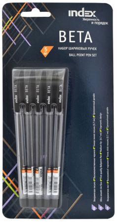Набор шариковых ручек BETA, прозрачный пластиковый корпус, цветной колпачок, рифленый грип, 0,7 мм, rubis пинцет классик про грип