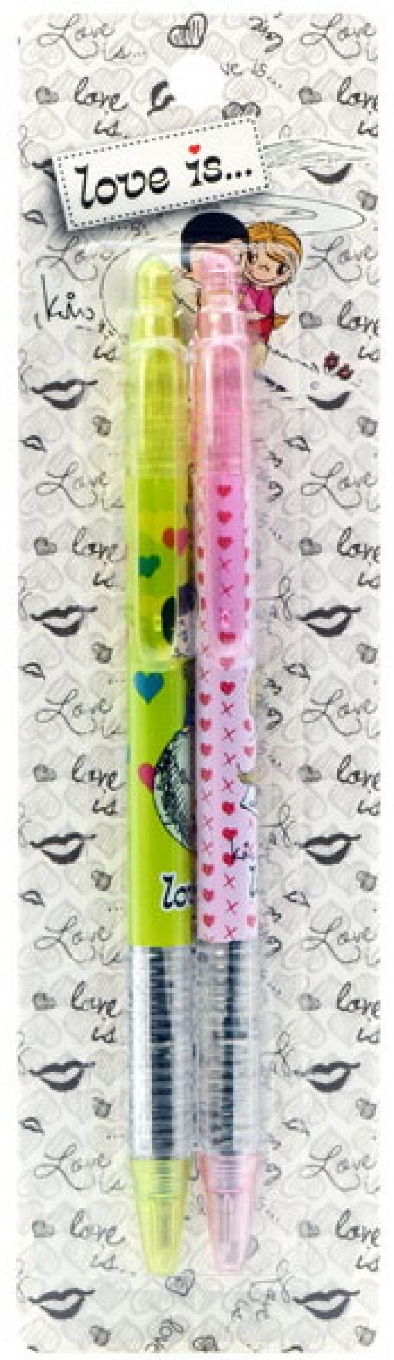 Набор шариковых ручек автоматическая Action! Love is 2 шт синий LI-ABP150/2 LI-ABP150/2 набор шариковых стержней cross tech3 tech4 красный 2 шт