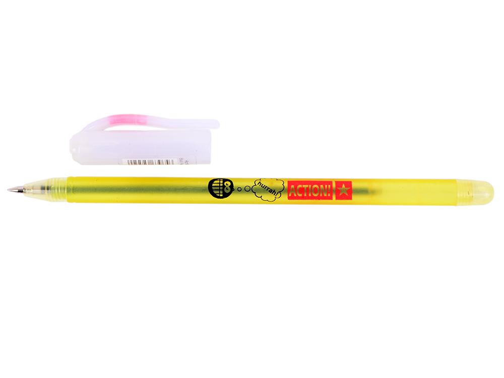 Шариковая ручка Action! ABP150 Цвет чернил: синий еж стайл ручка гелевая океания конек цвет чернил черный