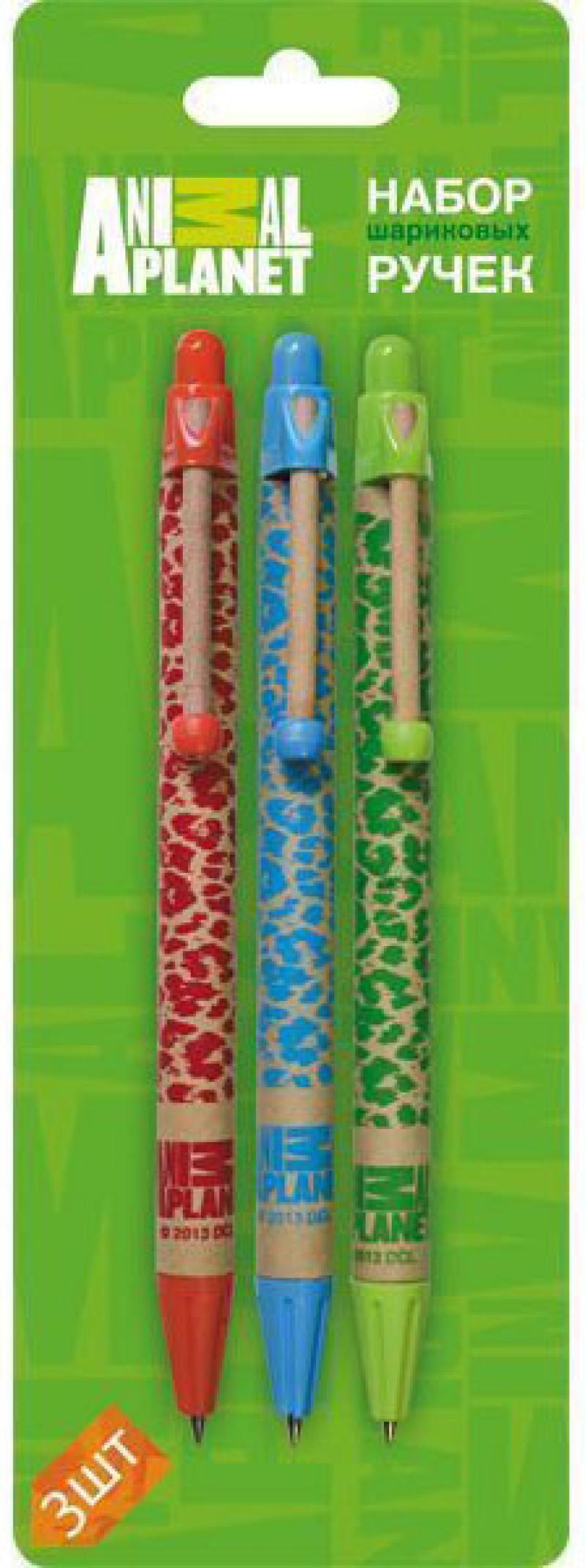 Набор шариковых ручек автоматическая Action! Animal Planet 3 шт AP-ABP151/3 AP-ABP151/3 набор шариковых ручек стамм ро06 3 шт разноцветный 1 мм ро06