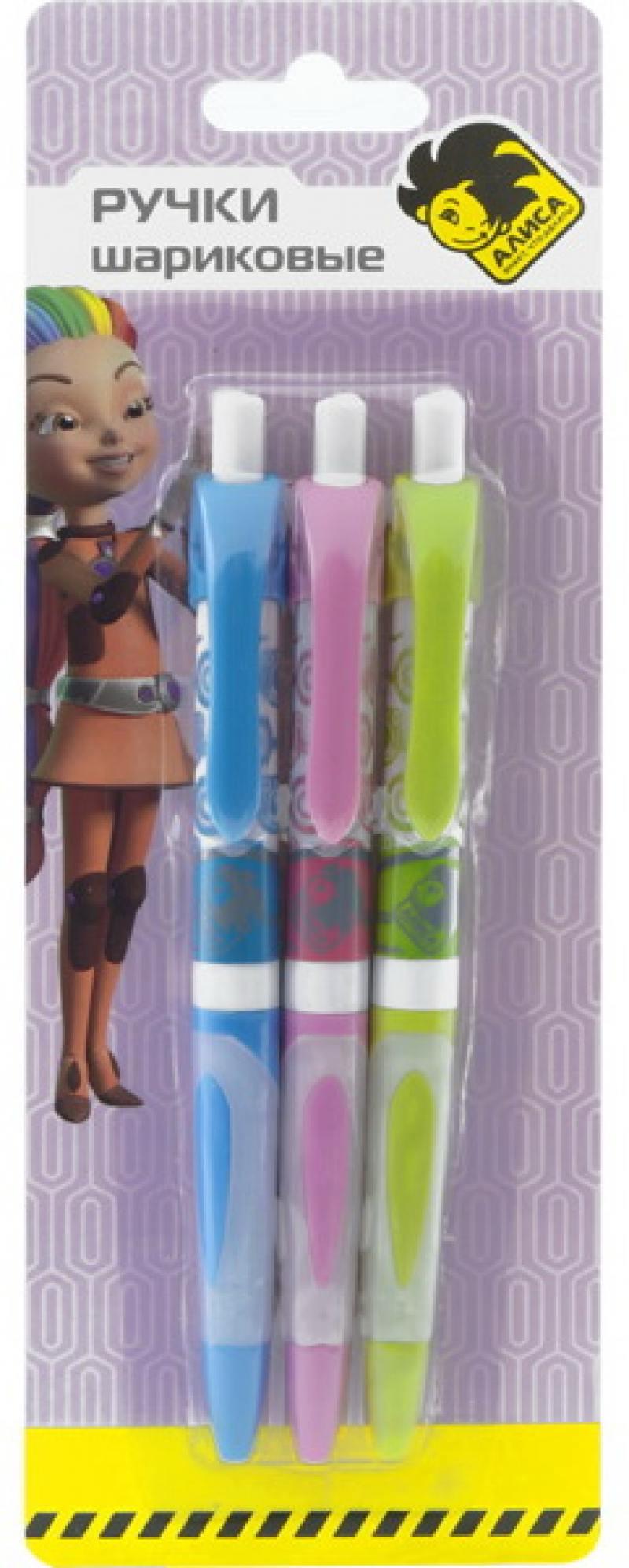 Набор шариковых ручек автоматическая Action! АЛИСА 3 шт синий AZ-ABP152/3 AZ-ABP152/3 набор шариковых ручек hauser grip well 3 шт
