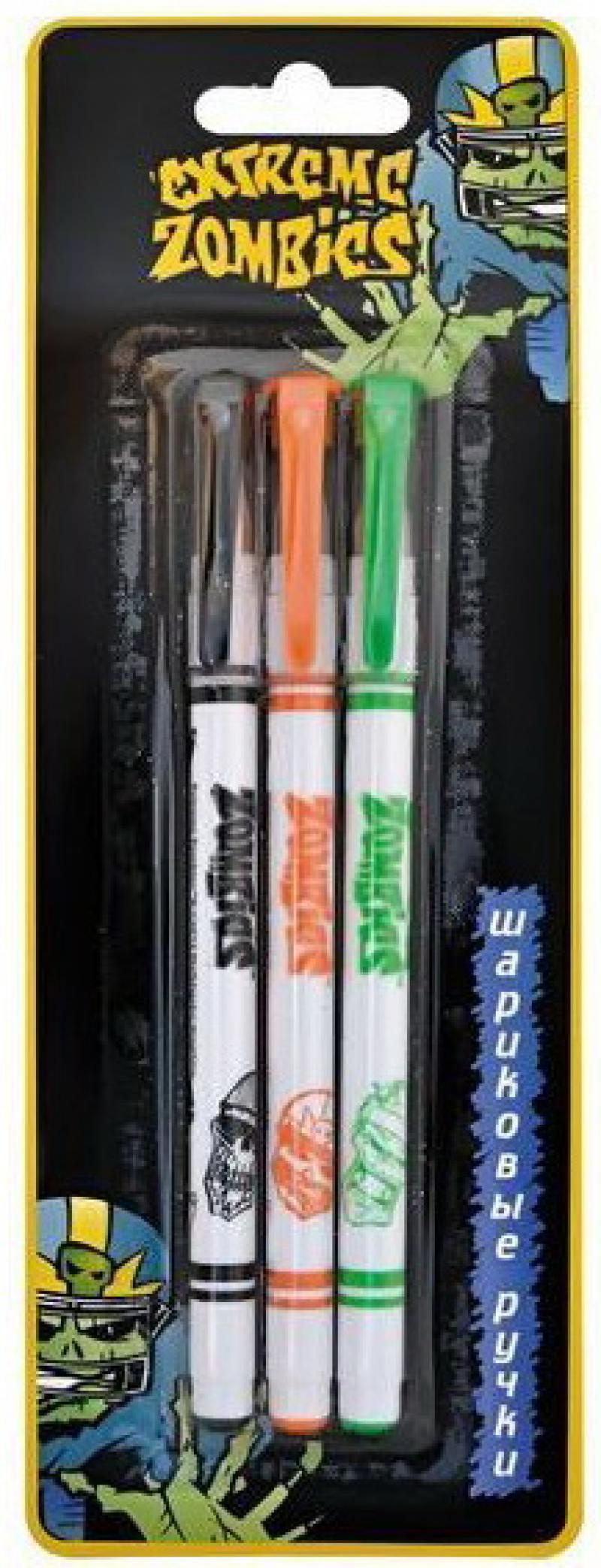 Набор шариковых ручек Action! Extreme Zombie 3 шт синий EZ-ABP151/3 EZ-ABP151/3 набор шариковых ручек стамм ро06 3 шт разноцветный 1 мм ро06