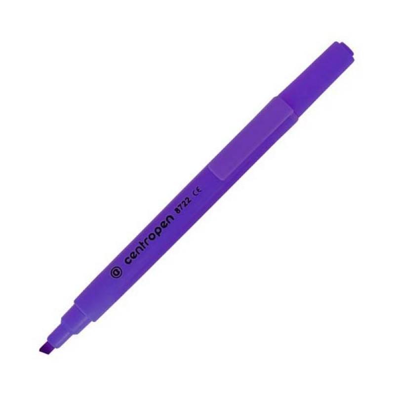Маркер флуоресцентный Centropen 8722/1Ф фиолетовый 8722/1Ф маркер флуоресцентный centropen 8722 1к красный 8722 1к