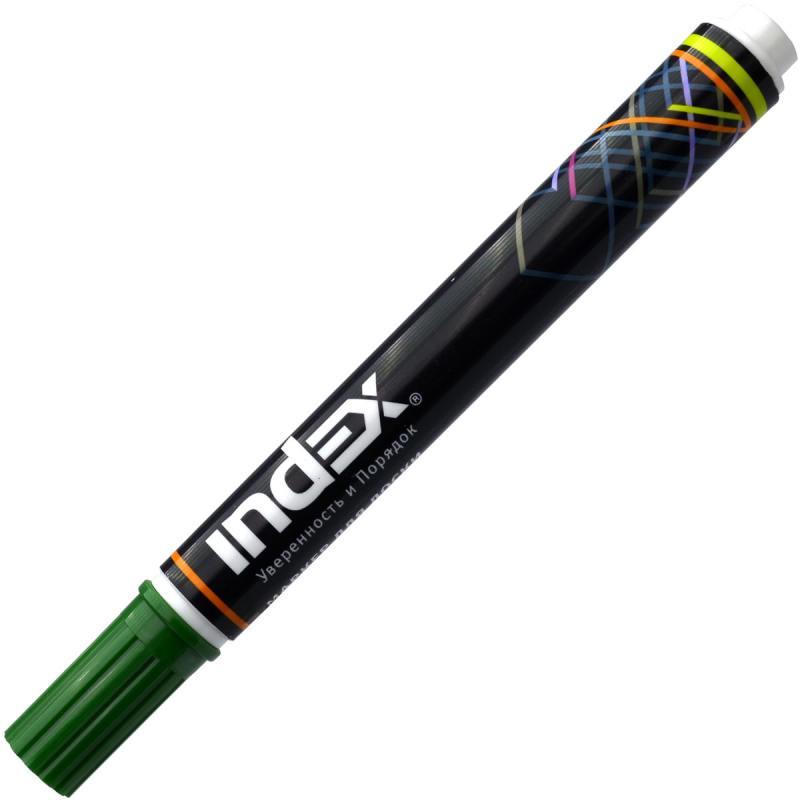 Маркер для доски Index IMW200/GN 5 мм зеленый IMW200/GN маркер для доски index двуцветный двусторонний черно зеленый imw101 bk gn