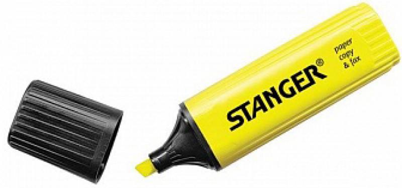 Текстмаркер Stanger 2000-01-18 1 мм желтый ножницы stanger 34103 12 5 см