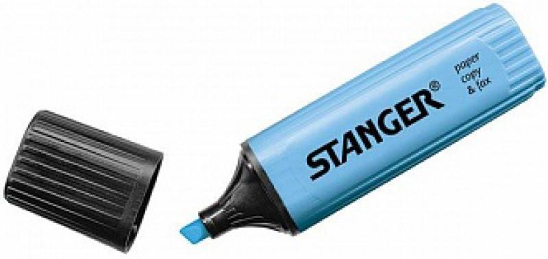Текстмаркер Stanger 2000-05-18 1 мм голубой ножницы stanger 34103 12 5 см