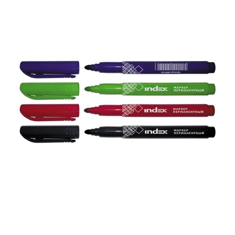 Набор маркеров Index IMP550/4 1 мм 4 шт разноцветный IMP550/4 original 15 4 a1398 lcd 99