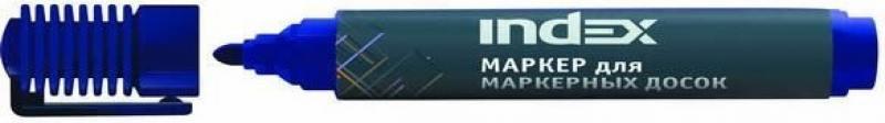 Маркер для доски Index IMW535/BU 4 мм синий IMW535/BU маркер index imp100 bu 2 мм синий imp100 bu