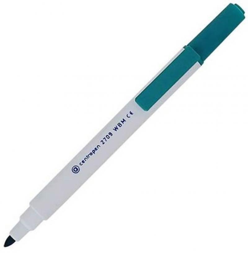 Маркер для доски Centropen 2709/1З 2 мм зеленый 2709/1З маркер для доски centropen 8569 1ч 4 6 мм черный