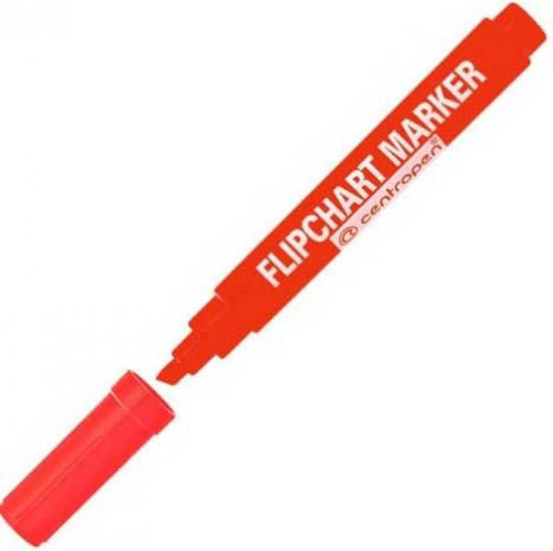 Маркер Centropen FLIPCHART 4.6 мм красный 8560/1К 8560/1К маркер флуоресцентный centropen 8722 1к красный 8722 1к
