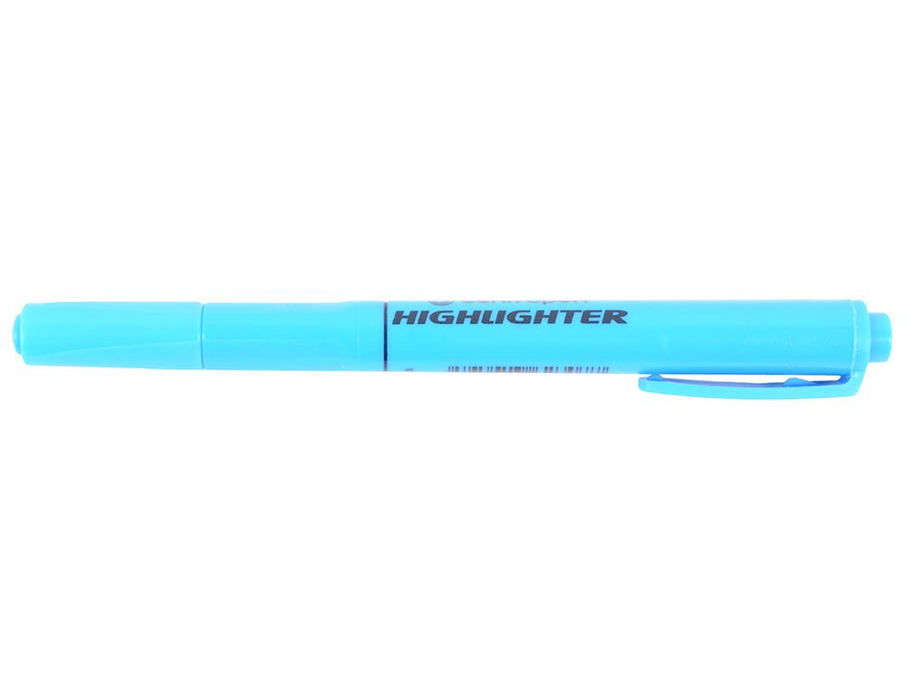 Маркер флуоресцентный Centropen 8722/1С синий 8722/1С маркер флуоресцентный centropen 8722 1ж желтый