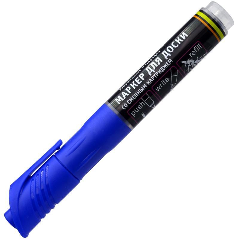 Маркер для доски Index IMWR101/BU 3 мм синий сменные чернила IMWR101/BU маркер index imp100 bu 2 мм синий imp100 bu