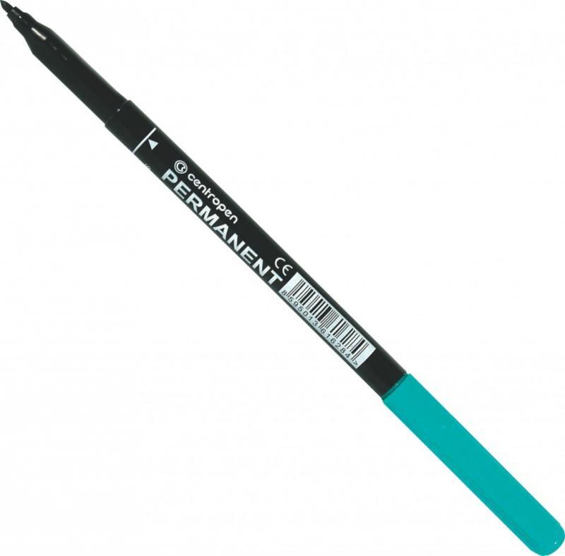 Маркер перманентный Centropen 2536/1З 1 мм зеленый 2536/1З маркер флуоресцентный centropen 8722 1о оранжевый 8722 1о
