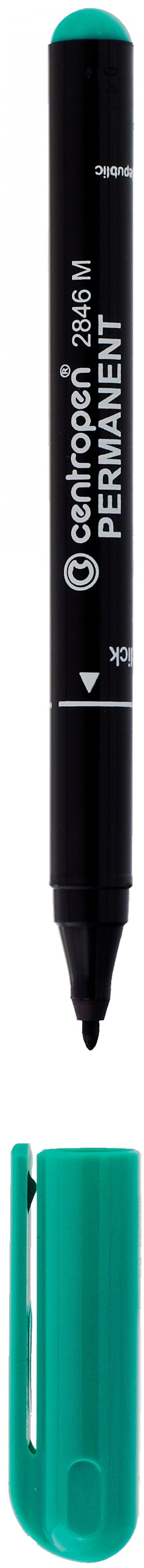Маркер перманентный Centropen 2846/1З 1 мм зеленый 2846/1З маркер перманентный centropen 2846 1к красный 2846 1к
