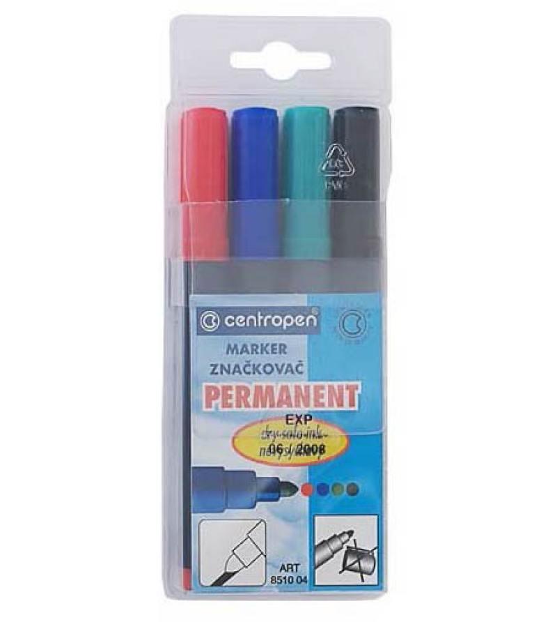 Набор маркеров Centropen 8510/04 PVC 4 шт разноцветный 8510/04 PVC chameleon набор маркеров pastel tones 5 шт