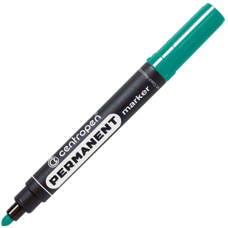 Маркер перманентный Centropen 8566/З зеленый 8566/З маркер флуоресцентный centropen 8722 1о оранжевый 8722 1о