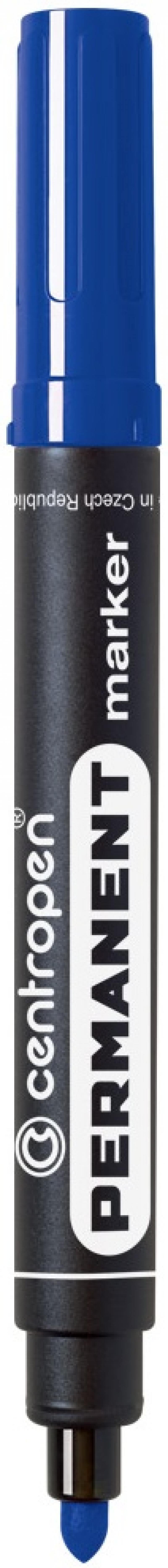 Маркер перманентный Centropen 8566/С 2.5 мм синий 8566/С маркер флуоресцентный centropen 8722 1о оранжевый 8722 1о