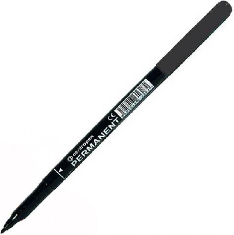 Маркер перманентный Centropen 2536/1Ч 1 мм черный 2536/1Ч маркер перманентный centropen 2536 1к 1 мм красный