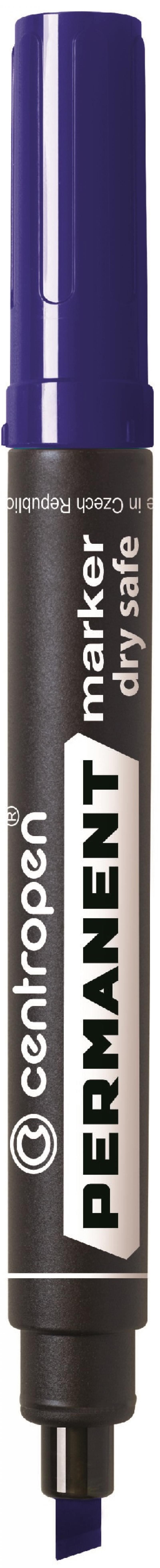Маркер перманентный Centropen 8516/С 2.5 мм синий 8516/С маркер флуоресцентный centropen 8722 1о оранжевый 8722 1о