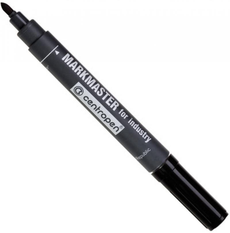 Маркер перманентный Centropen Markmaster 1.5 мм черный 8599/1Ч 8599/1Ч маркер флуоресцентный centropen 8722 1о оранжевый 8722 1о