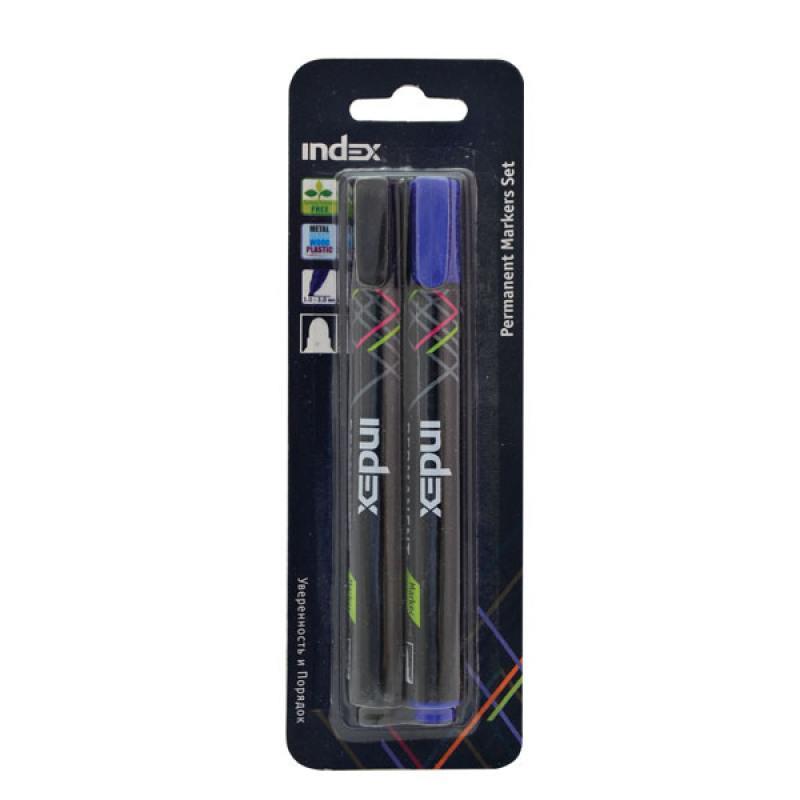 Набор маркеров Index IMP560/2 1 мм 2 шт разноцветный IMP560/2 chameleon набор маркеров pastel tones 5 шт