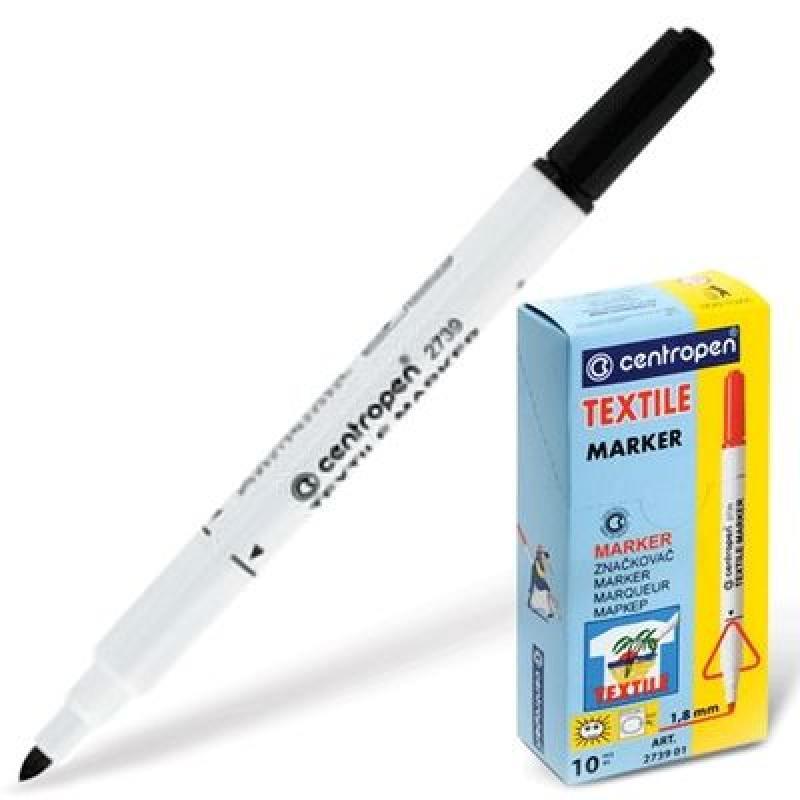 Фломастер Centropen 2739/1Ч 1,8 мм черный 2739/1Ч маркер для доски centropen 8569 1ч 4 6 мм черный