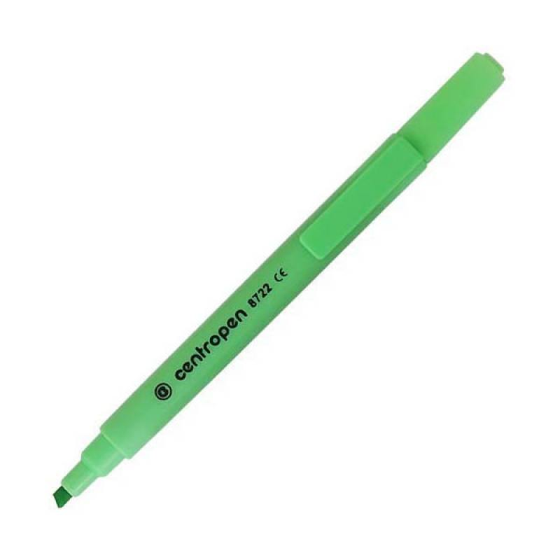 Маркер флуоресцентный Centropen 8722/1З зеленый  8722/1З
