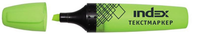 Текстмаркер Index IMH505/GN 1 мм салатовый текстмаркер index index imh545 1 мм зеленый