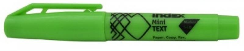 Текстмаркер Index МИНИ 1 мм зеленый IMH540/GN IMH540/GN текстмаркер index index imh545 1 мм зеленый
