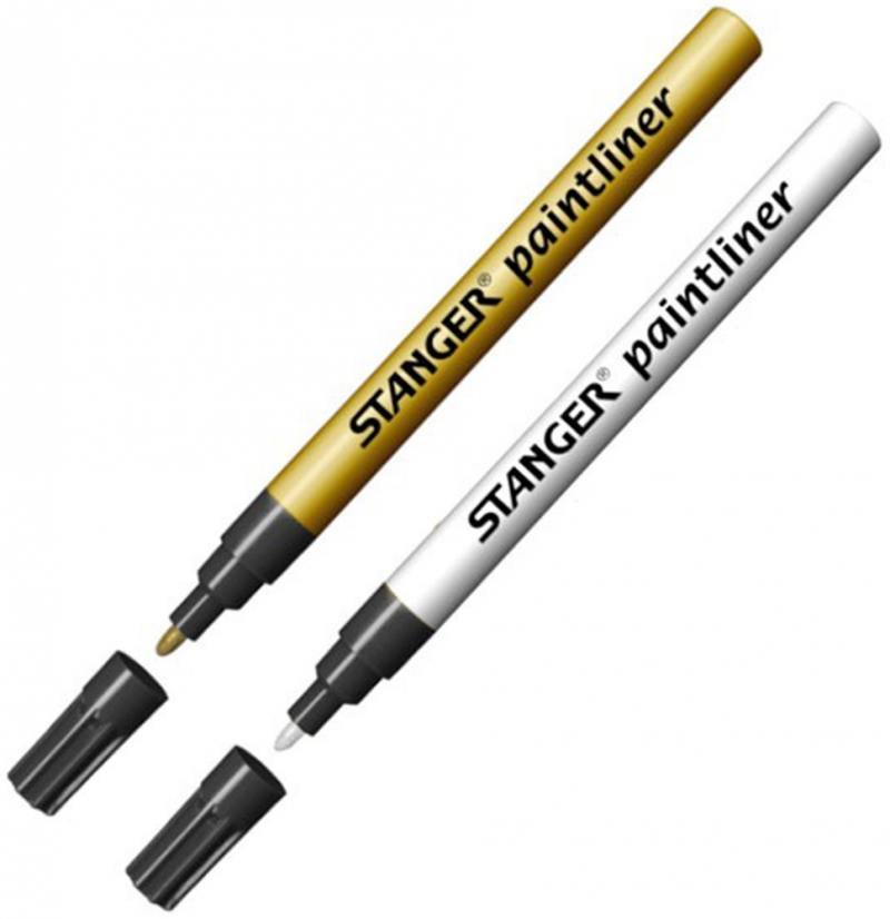 Набор лаковых маркеров Stanger 1 мм 2 шт золотистый серебристый 210005 chameleon набор маркеров pastel tones 5 шт